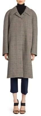 Prada Belted Check Wool Coat