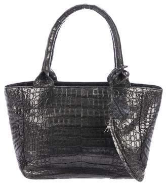 Nancy Gonzalez Metallic Crocodile Small Top Handle Bag
