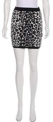 A.L.C. Animal Print Mini Skirt