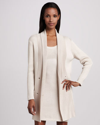 Magaschoni Double-Breasted Ribbed Cardigan