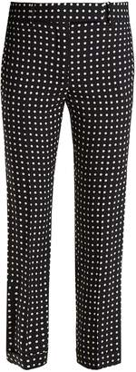 Haider Ackermann Slim-fit polka-dot print trousers