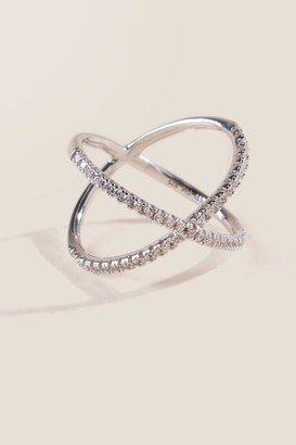 francesca's Sterling Silver Criss Cross Ring - Silver