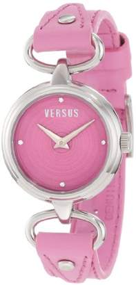 Versus By Versace Women's 3C67900000 Versus V Dial with Crystals Genuine Leather Watch