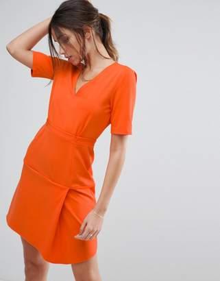 Asos Design Paper Bag Waist Tuck Shift Dress