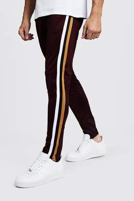 boohoo Tricot Cropped Tape Detail Jogger