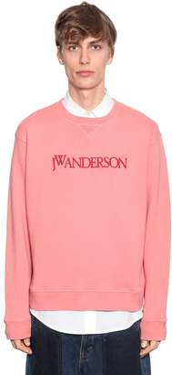 J.W.Anderson Logo Embroidered Cotton Sweatshirt