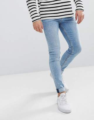 Weekday Form Ratio Blue Super Skinny Jeans