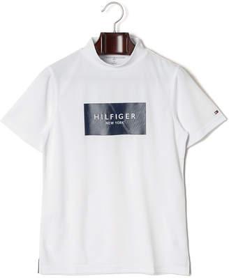 Tommy Hilfiger (トミー ヒルフィガー) - TOMMY HILFIGER UVCUT 吸水速乾 BOX LOGO モックネック 半袖Tシャツ ホワイト l