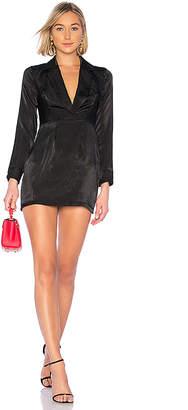 by the way. Cassie Satin Deep V Dress