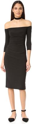 Norma Kamali Kamali Kulture Off Shoulder Dress $135 thestylecure.com