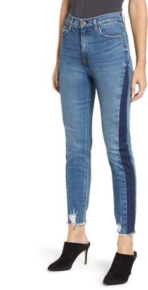 Hudson Jeans Holly Shadow Stripe High Waist Ankle Skinny Jeans