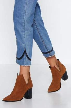 Nasty Gal Come V Me Suede Boot
