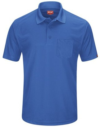Red Kap Men's Short Sleeve Performance Knit Pocket Polo