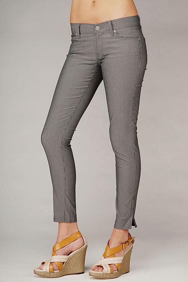 Crop Roxanne With Side Zipper In Grey