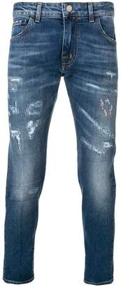 Entre Amis cropped distressed jeans