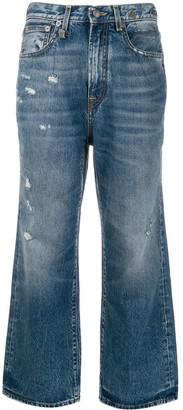 R 13 high rise bootcut jeans