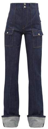 Chloé High Rise Safari Pocket Jeans - Womens - Denim