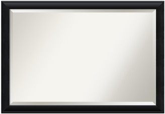 Amanti Art Extra Large Beveled Black Modern Wood Wall Mirror