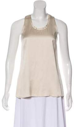 Max Mara 'S Silk Sleeveless Top