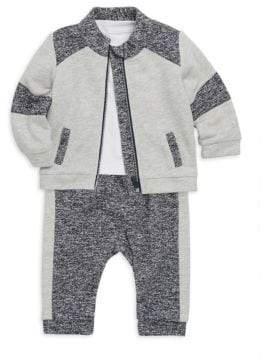 Miniclasix Baby Boy's Three-Piece Jacket, Tee& Pants Set