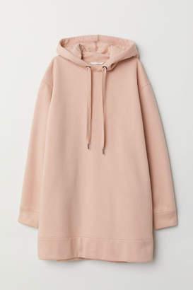 H&M Oversized Hooded Sweatshirt - Orange