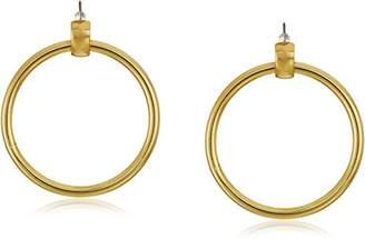 Trina Turk Large Goldtone Doorknocker Drop Earrings