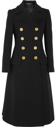 Alexander McQueen - Double-breasted Wool Coat - Black $3,275 thestylecure.com