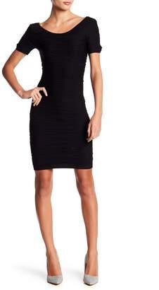 Bebe Short Sleeve Lace-Up Dress