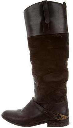 Golden Goose Distressed Suede Knee-High Boots