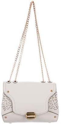 Nina Ricci Laser Cut Leather Shoulder Bag