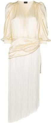 Magda Butrym draped tassel dress