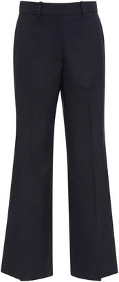 Victoria Beckham Cropped Wool-Crepe Flared Pants