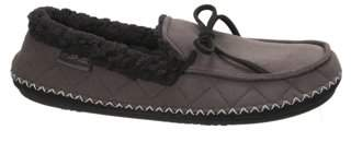 Dearfoams Men's Microsuede Moccasin with Quilting Slippers