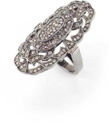 BCBGMAXAZRIA Oval Diamante Ring