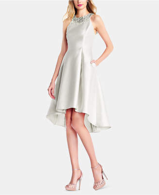 Adrianna Papell Embellished High-Low Dress