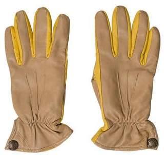 Barneys New York Barney's New York Leather Bicolor Gloves