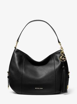MICHAEL Michael Kors Brooke Large Pebbled Leather Shoulder Bag