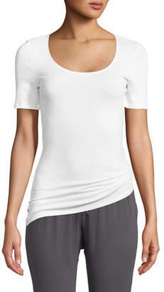 Hanro Sea Island Cotton Scoop-Neck T-Shirt