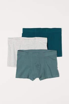 H&M 3-pack Short Boxer Shorts - Green