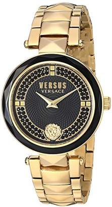 Versus By Versace Women's 'Covent Garden Crystal' Quartz Stainless Steel and Plated Casual Watch(Model: VSPCD2617)