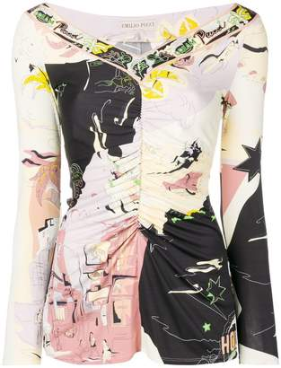 Emilio Pucci Hollywood prints blouse