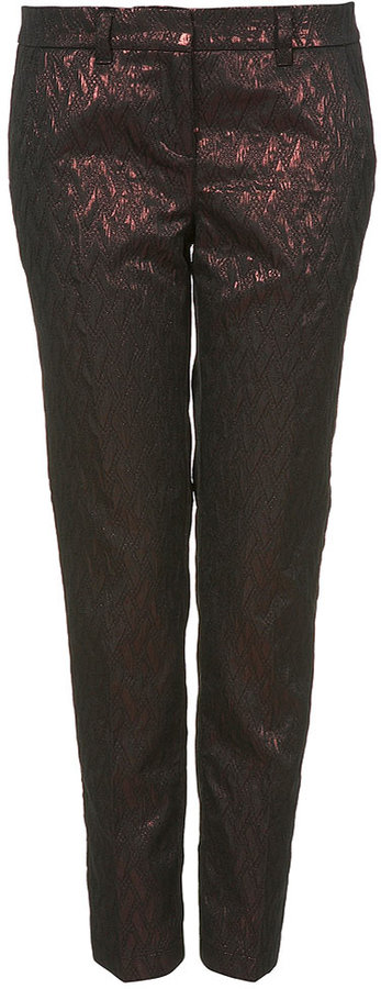 Foil Jacquard Tapered Trousers