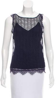 Tamara Mellon Scalloped Lace Top
