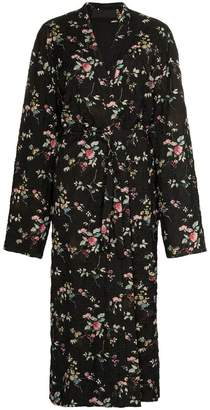Haider Ackermann floral belted maxi coat