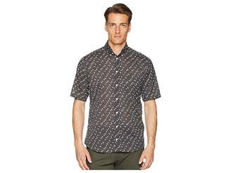 Eton Slim Fit Polka Dot Banana Shirt