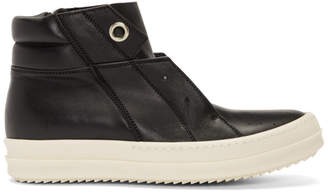Rick Owens Black Island Dunk High-Top Sneakers