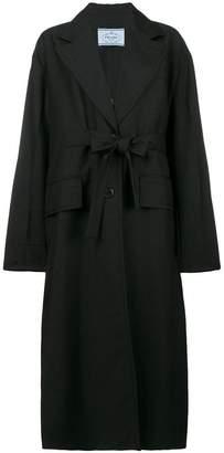 Prada long single breasted coat