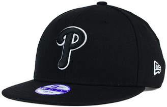 New Era Kids' Philadelphia Phillies Black White 9FIFTY Snapback Cap