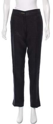 Salvatore Ferragamo Mid-Rise Jacquard Pants