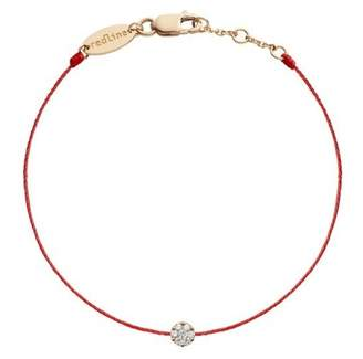 Redline 18ct Rose Gold And Diamond Illusion Red Thread Bracelet